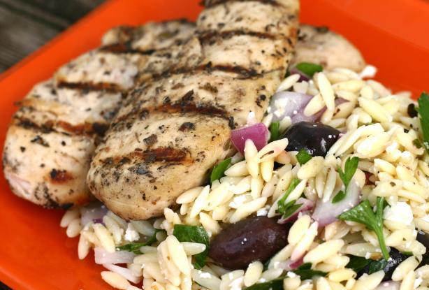Class: Greek Chicken and Orzo Pasta | Leaning Ladder
