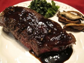 Steak with balsamic butter