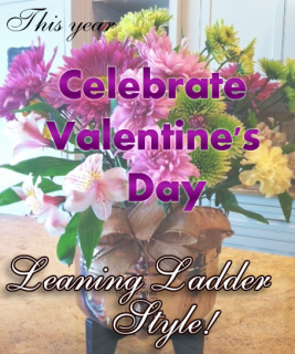 Valentine's Day Leaning Ladder Style